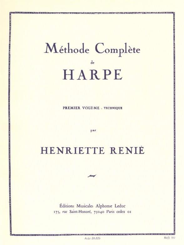 Methode de harpe -Volume 1 - Henriette Renié - laflutedepan.com