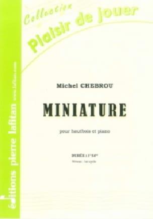 Miniature - Michel Chebrou - Partition - Hautbois - laflutedepan.com