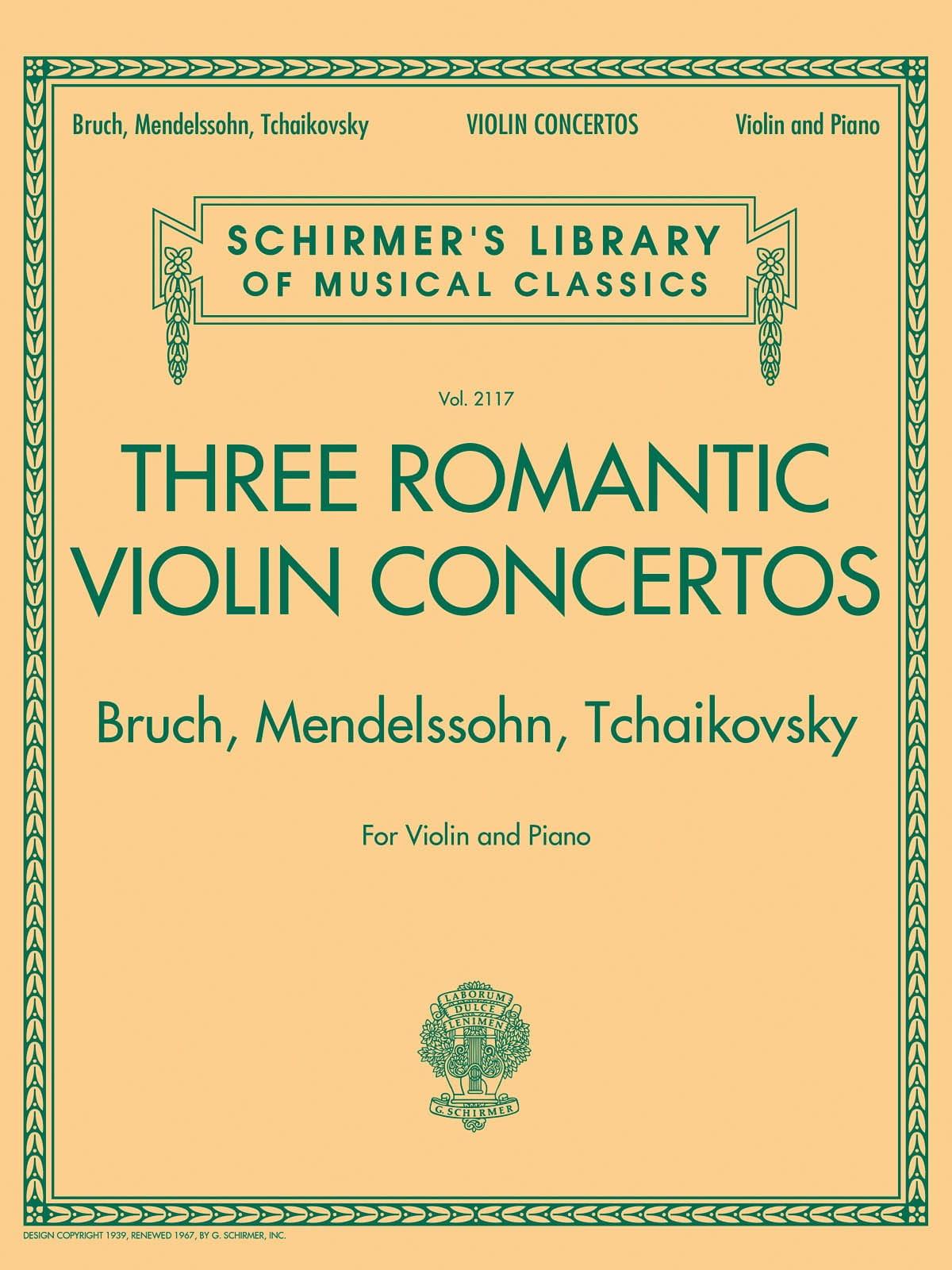 3 Romantic Violin Concertos - Violon et piano - laflutedepan.com