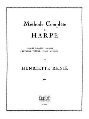 Méthode de harpe -Volume 2 Henriette Renié Partition laflutedepan