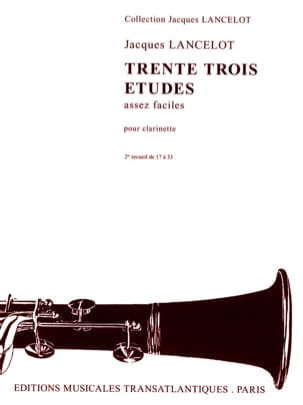 Jacques Lancelot - 33 Estudios bastante fáciles - Volumen 2 - Partition - di-arezzo.es