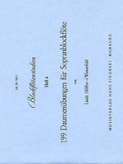 199 Daumenübungen - Heft 6 - für Sopranblockflöte laflutedepan