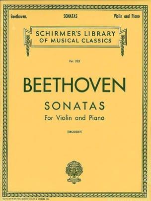 Sonatas for violin and piano BEETHOVEN Partition Violon - laflutedepan