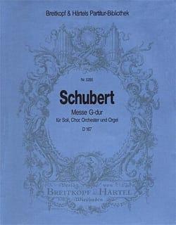 Messe G-Dur D 167 - Set SCHUBERT Partition laflutedepan