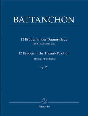 12 Etudes In The Thumb Position Op.25 Félix Battanchon laflutedepan