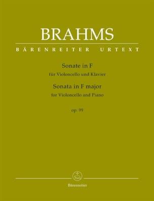 Sonate, opus 99 - Violoncelle et piano BRAHMS Partition laflutedepan