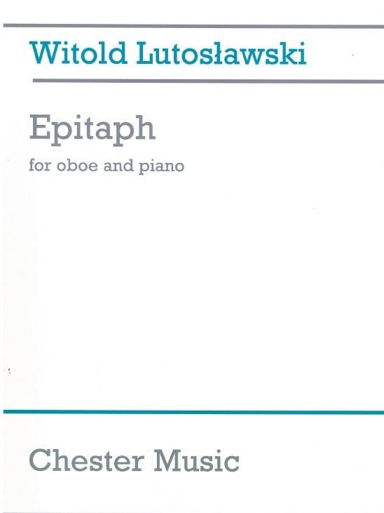 Epitaph - LUTOSLAWSKI - Partition - Hautbois - laflutedepan.com