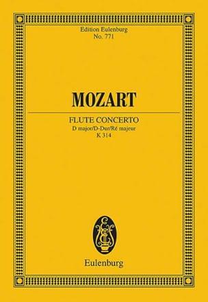 Flötenkonzert D-Dur KV 314 - Partitur MOZART Partition laflutedepan