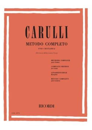 Méthode complète de guitare Ferdinando Carulli Partition laflutedepan