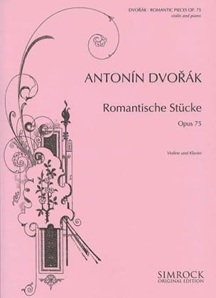 Romantische Stücke op. 75 DVORAK Partition Violon - laflutedepan