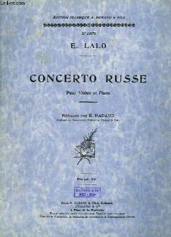 Concerto russe op. 29 LALO Partition Violon - laflutedepan