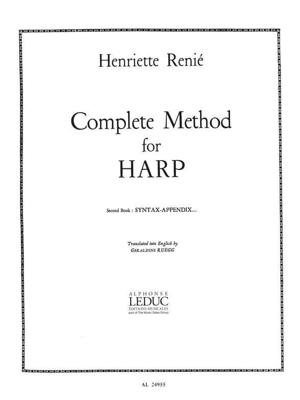 Méthode de harpe - Volume 2 anglais - laflutedepan.com