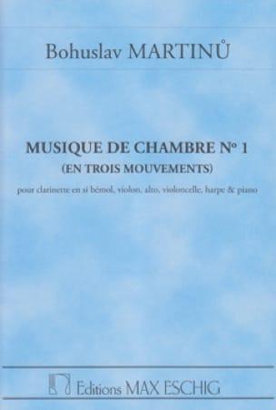 Musique de chambre n° 1 - Conducteur - MARTINU - laflutedepan.com