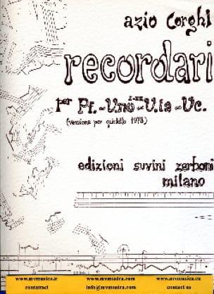 Recordari -Partitura - Aldo Corghi - Partition - laflutedepan.com