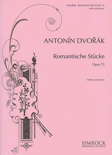 Romantische Stücke op. 75 - DVORAK - Partition - laflutedepan.com