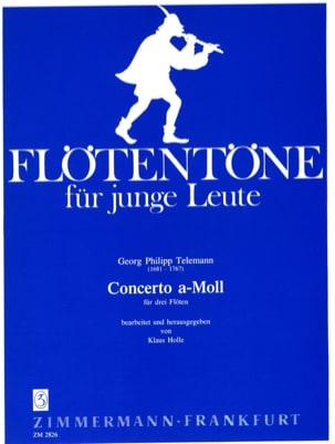 Concerto a-moll - 3 Flöten TELEMANN Partition laflutedepan