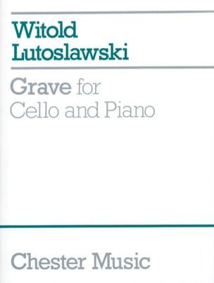Grave LUTOSLAWSKI Partition Violoncelle - laflutedepan