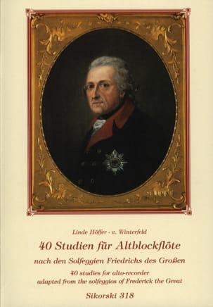 40 Studien für Altblockflöte Winterfeld Linde Höffer-von laflutedepan