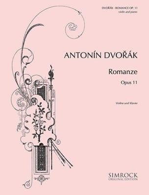 Romance op. 11 DVORAK Partition Violon - laflutedepan