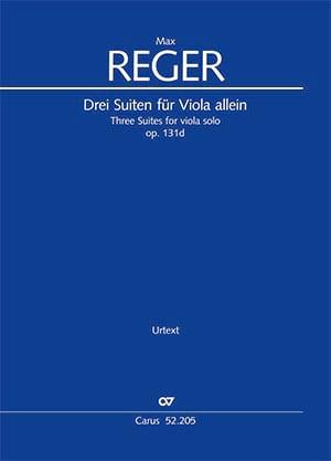 3 Suites opus 131d Max Reger Partition Alto - laflutedepan