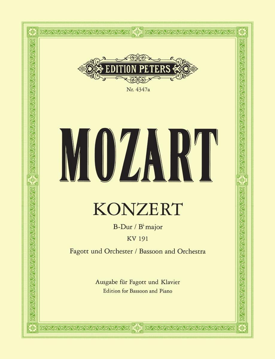 Fagottkonzert B-Dur KV 191 -Fagott Klavier - laflutedepan.com