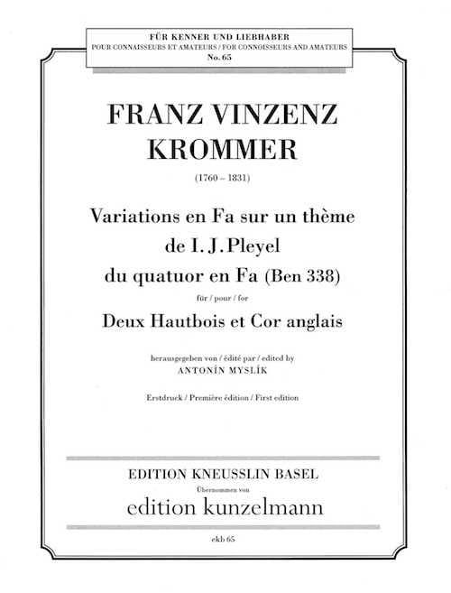 Variations en Fa sur un thème de Pleyel - laflutedepan.com