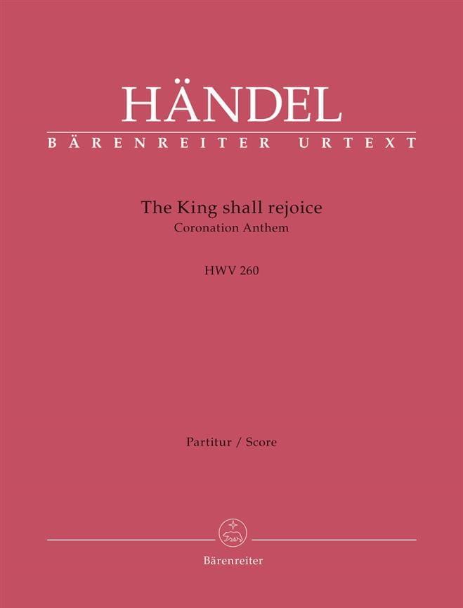 The King shall rejoice, HWV 260 - Conducteur - laflutedepan.com