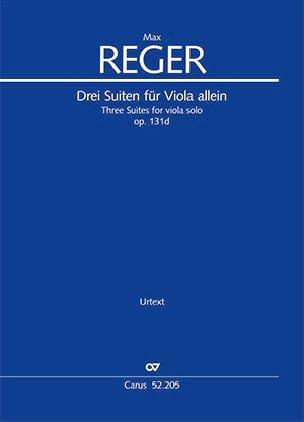 3 Suites opus 131d - Max Reger - Partition - Alto - laflutedepan.com
