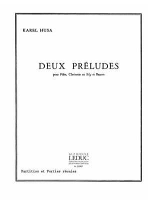 2 Préludes - Conducteur + Parties - Karel Husa - laflutedepan.com