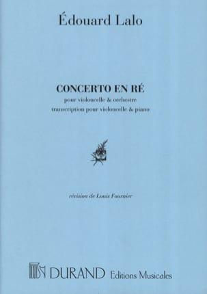 Concerto en RÉ mineur pour Violoncelle LALO Partition laflutedepan
