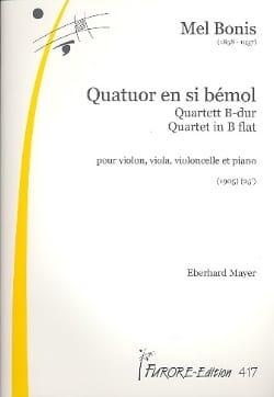 Quatuor en sib majeur -Parties Mel Bonis Partition laflutedepan