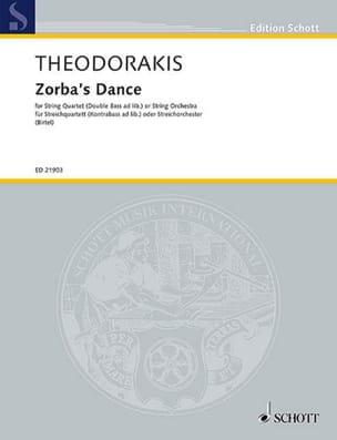 Zorba's Dance - Quatuor à Cordes - THEODORAKIS - laflutedepan.com