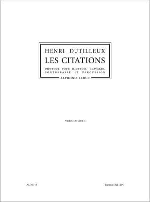 Les Citations version 2010 - Conducteur - DUTILLEUX - laflutedepan.com