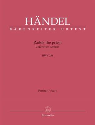 Zadok the Priest, HWV 258 - Conducteur - HAENDEL - laflutedepan.com