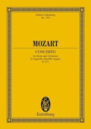 Horn-Konzert Nr. 2 Es-Dur KV 417 MOZART Partition laflutedepan