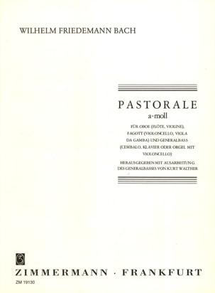 Pastorale a-moll Wilhelm Friedemann Bach Partition laflutedepan