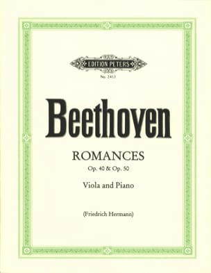 BEETHOVEN - Romances op. 40 and op. 50 - Viola - Partition - di-arezzo.fr
