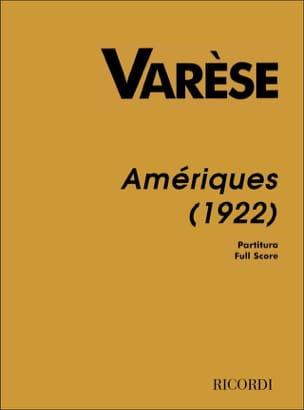 Amériques 1922 Edgard Varese Partition Grand format - laflutedepan