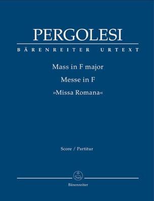 Messe en Fa Majeur - Conducteur PERGOLESE Partition laflutedepan