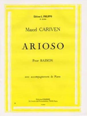 Arioso - Marcel Cariven - Partition - Basson - laflutedepan.com
