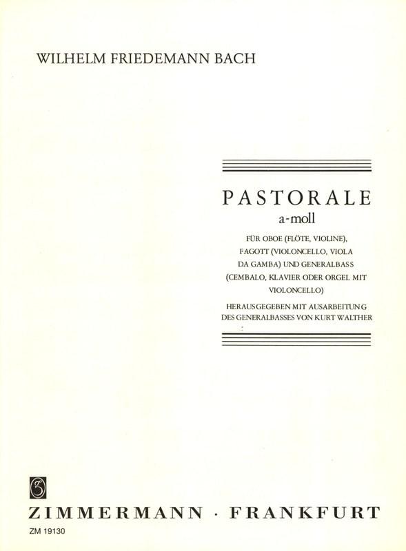 Pastorale a-moll - Wilhelm Friedemann Bach - laflutedepan.com
