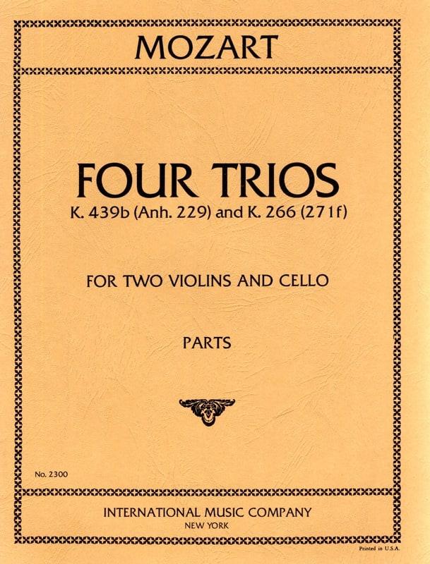 4 Trios KV 439b et KV 266 -2 Violins cello - Parts - laflutedepan.com