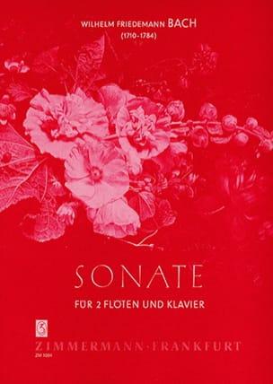 Sonate D-Dur -2 Flöten Klavier Wilhelm Friedemann Bach laflutedepan