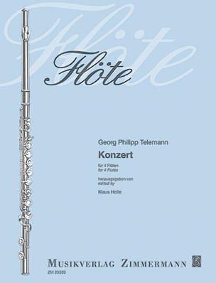 Concerto Pour 4 Flûtes TELEMANN Partition laflutedepan