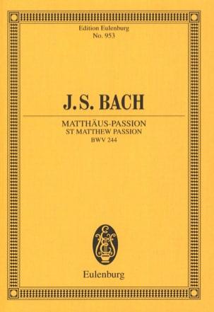 Passion selon Saint Mathieu Bwv 244 BACH Partition laflutedepan