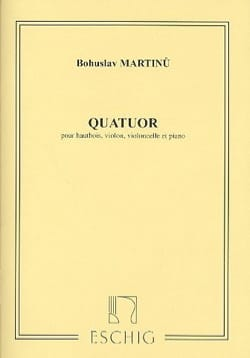 Quatuor -hautbois, violon, violoncelle et piano MARTINU laflutedepan
