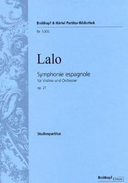 Symphonie Espagnole Opus 21 LALO Partition Petit format - laflutedepan