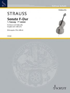 Sonate en Fa Majeur (1ère version) Richard Strauss laflutedepan
