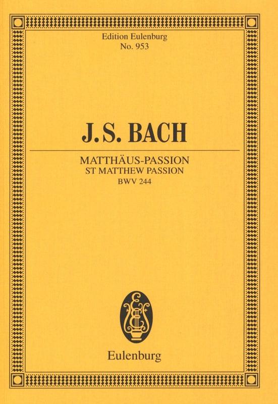 Passion selon Saint Mathieu Bwv 244 - BACH - laflutedepan.com