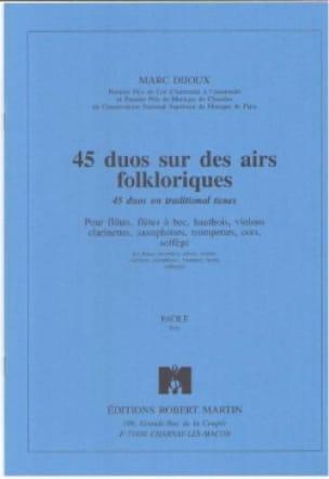 45 Duos sur des airs folkloriques - Marc Dijoux - laflutedepan.com